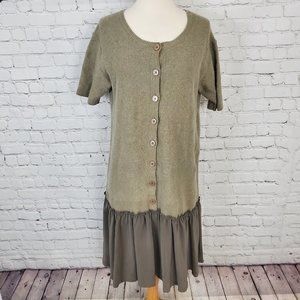 MARC JACOBS Olive Brown Wool Silk Cashmere dress M